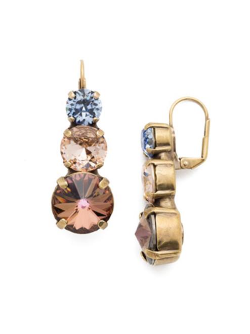 Sorrelli Selvedge Denim Crystal Earrings EEP54AGSDE