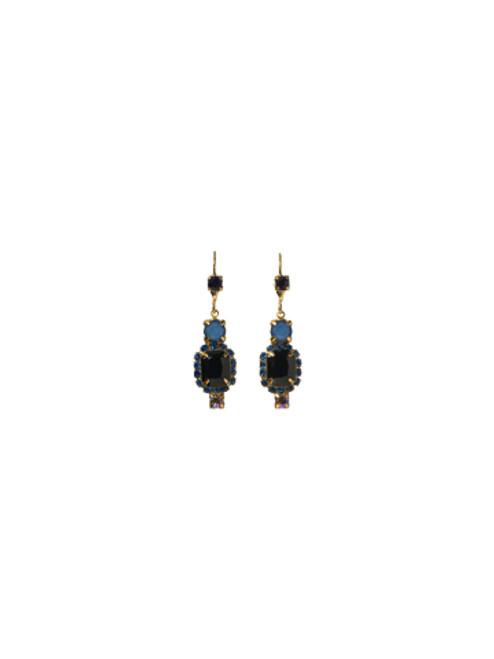 Sorrelli Lapis Gold Crystal Earrings EBZ47BGLAP