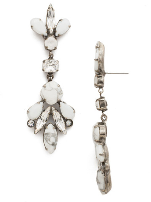 Sorrelli White Howlite Crystal Earrings EDS13ASWH