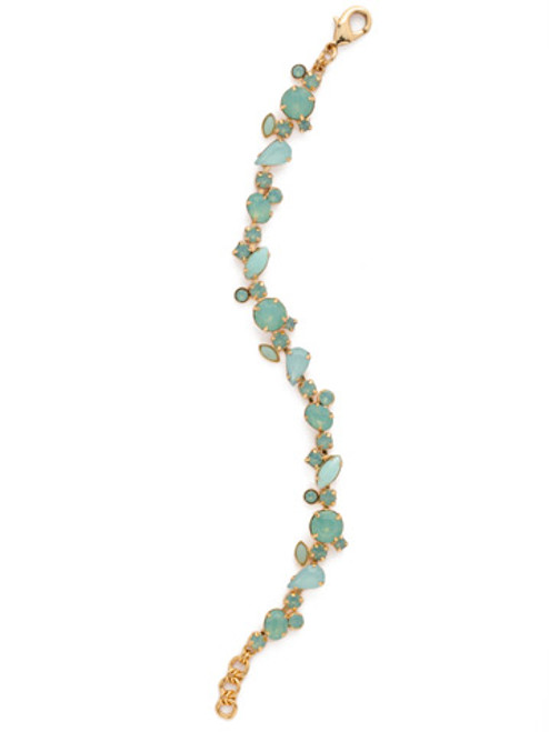 Sorrelli Pacific Opal- Every Which Way Crystal Bracelet~ BCG20BGPAC