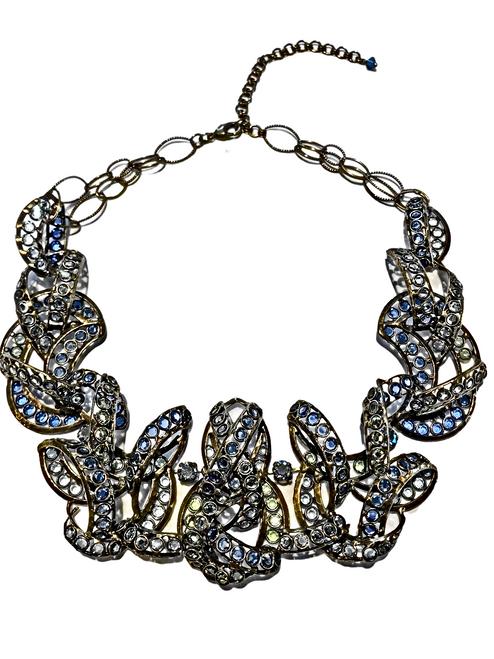Sorrelli RARE & RETIRED Necklace~NLOTM0230AGB-BLUE
