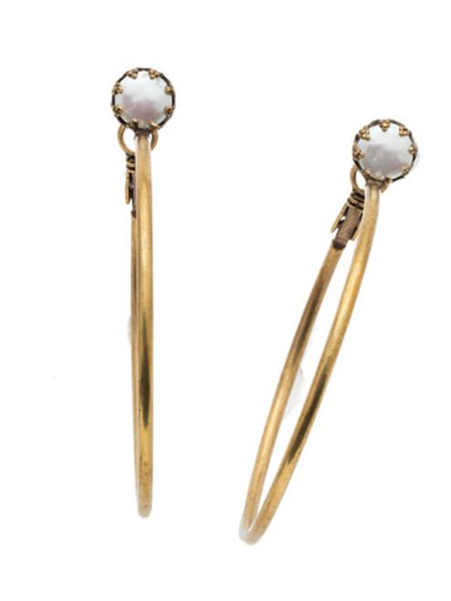 Sorrelli Selvedge Denim Crystal Earrings EEP24AGSDE