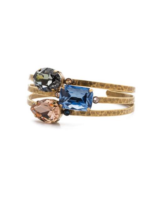 Sorrelli Selvedge Denim Crystal Bracelet BEP18AGSDE