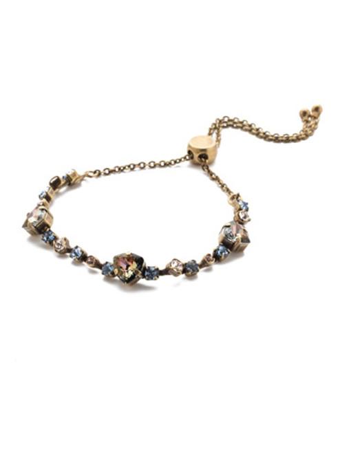 Sorrelli Selvedge Denim Crystal Bracelet 4BEE3AGSDE