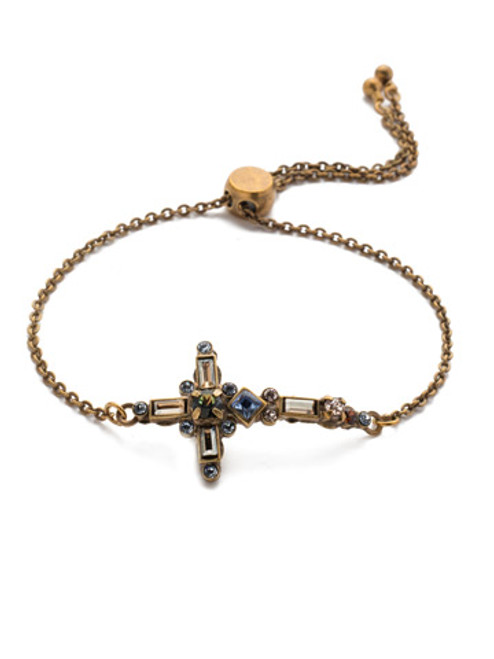 Sorrelli Selvedge Denim Crystal Bracelet