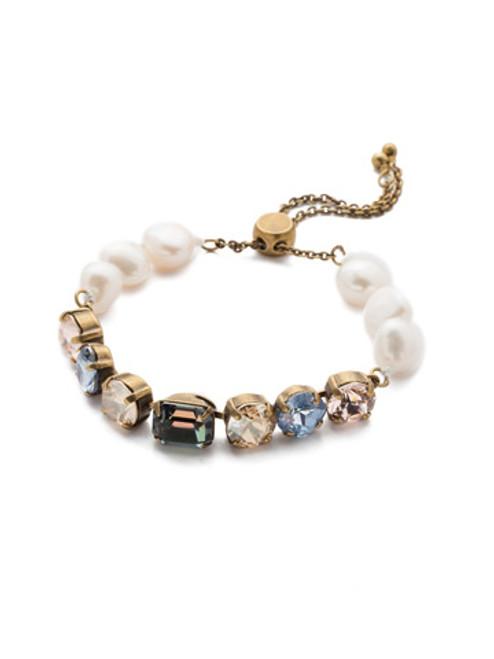 Sorrelli Selvedge Denim Crystal Bracelet BEC14AGSDE