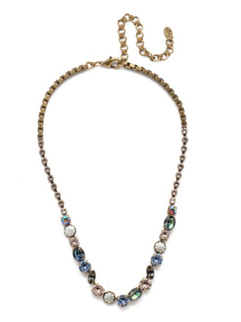 Sorrelli Selvedge Denim - Harttley Tennis Necklace~ NEP3AGSDE