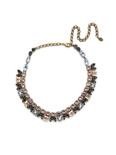 Sorrelli Selvedge Denim  Crystal Necklace~NEP20AGSDE