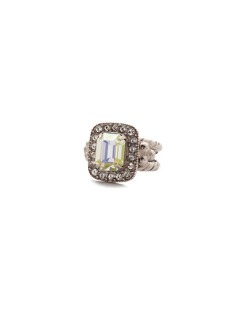 Sorrelli Crystal Envy Opulent Octagan Cocktail Ring RDQ41ASCRE