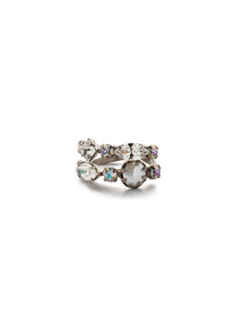 Sorrelli Crystal Envy- Oaklyn Stacked Ring~ REP1ASCRE