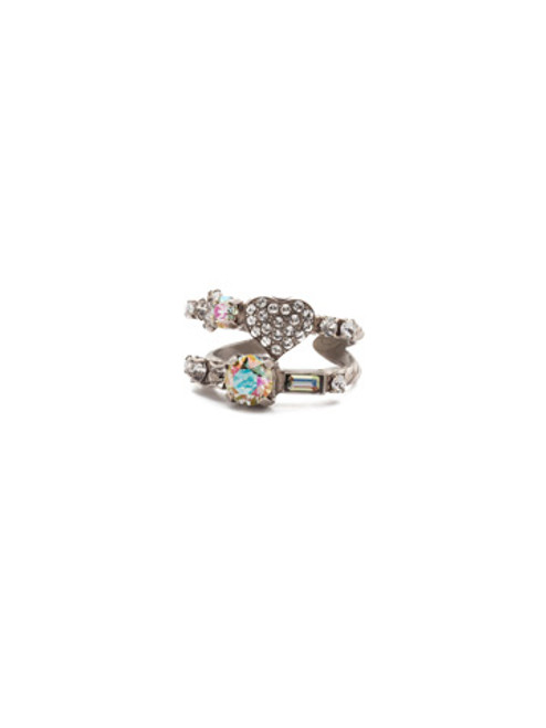Sorrelli Crystal Envy - Ishanna Stacked Crystal Ring~ REM4ASCRE