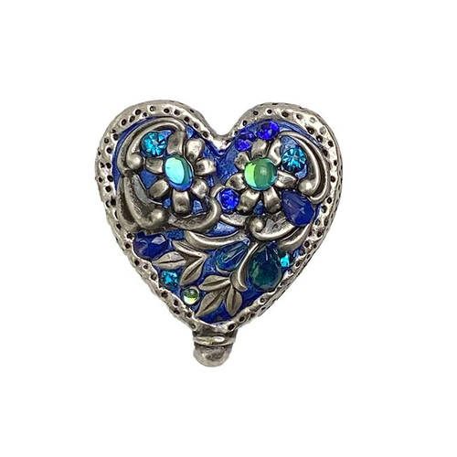 Michal Golan Cerulean Heart Brooch- P752
