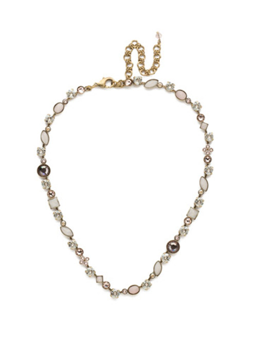 Sorrelli Soft Rose Crystal Necklace NAQ3AGSRO