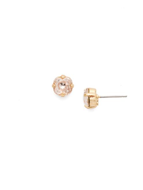 Sorrelli Scarlet Champagne Round Crystal Stud Earrings EDN3BGSRC