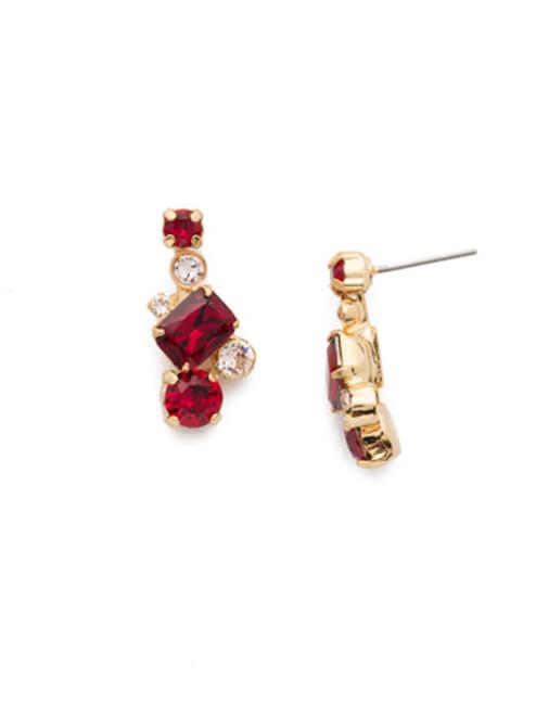 Sorrelli Scarlet Champagne Crystal Earrings EDE93BGSRC