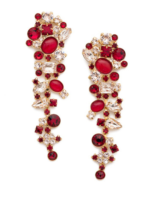 Sorrelli Scarlet Champagne Crystal Earrings -EAX8BGSRC