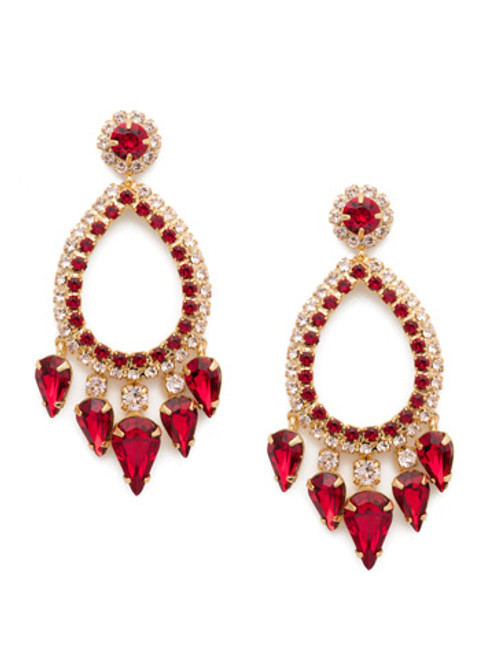 Sorrelli Scarlet Champagne Crystal Earrings -ECU21BGSRC