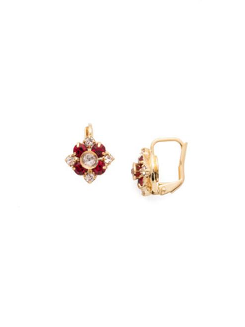 Sorrelli Scarlet Champagne- Dainty Flower Stud Earrings~ EAX3BGSRC