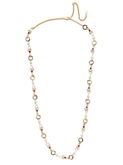 Sorrelli Scarlet Champagne Crystal Necklace -NEB16BGSRC