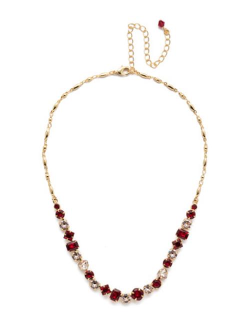 Sorrelli Scarlet Champagne Crystal Necklace NDX14BGSRC