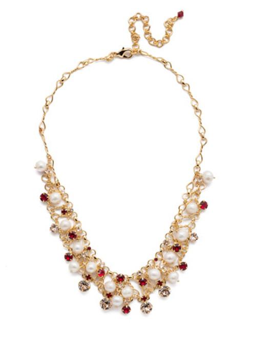 Sorrelli Scarlet Champagne Crystal Necklace -NCF5BGSRC