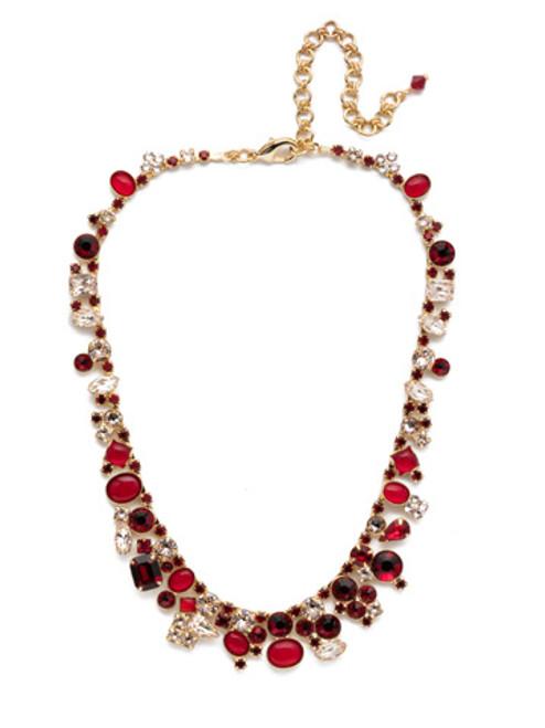 Sorrelli Scarlet Champagne Crystal Necklace -NAX8BGSRC