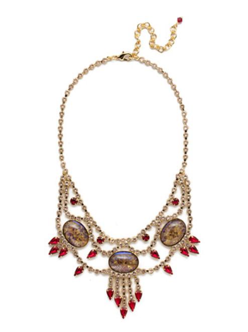 Sorrelli Scarlet Champagne Crystal Necklace NCQ19BGSRC