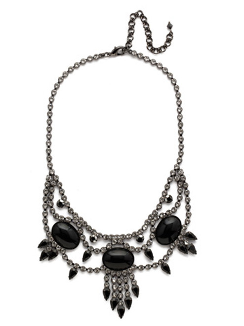 Sorrelli Midnight Moon Living on the Fringe Necklace NCQ19GMMMO
