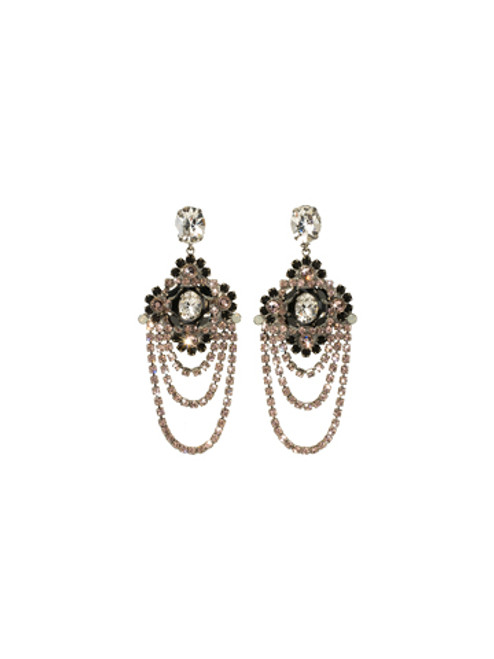 **SPECIAL ORDER**SORRELLI French Blush Crystal Chandelier Statement Earrings~EBP49ASFB