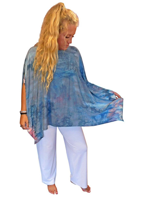 Ice Cream Bamboo Poncho by Moontide Dyers