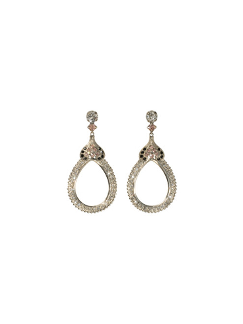 **SPECIAL ORDER**SORRELLI French Blush Antique  Influenced Hollow  Drop Crystal Earrings~ECF42ASFB
