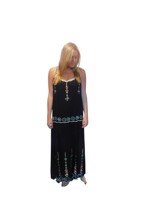 Long Indie Embroidered Dress by Lakra