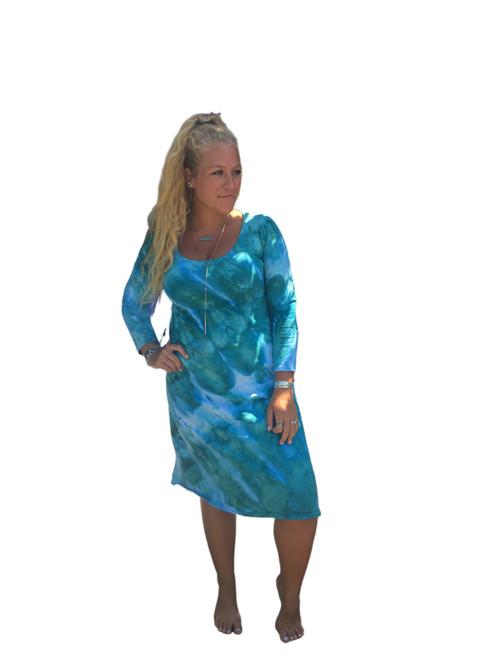Ice Tye Dye Midi Dress by Martha~Sea