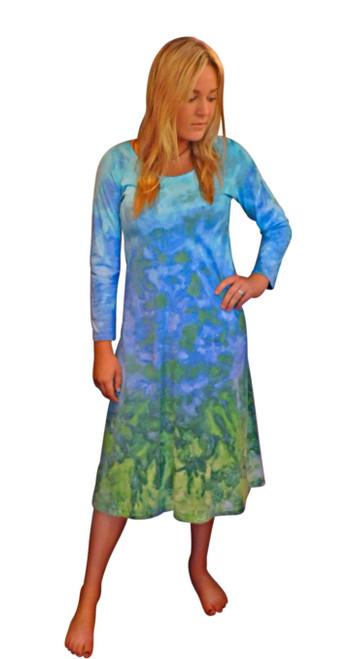 Ice Tye Dye Midi Dress by Martha~Mountain Vista
