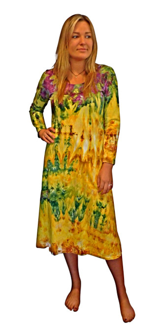 Ice Tye Dye Midi Dress by Martha~Sunset