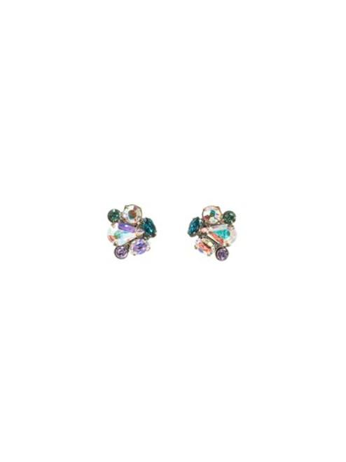 Sorrelli Smitten Crystal Abstract Cluster Earrings ~EBS18AGSMI