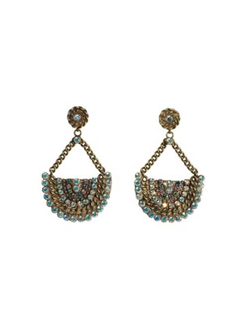 Sorrelli Smitten Crystal Post Earrings ~EBU48AGSMI