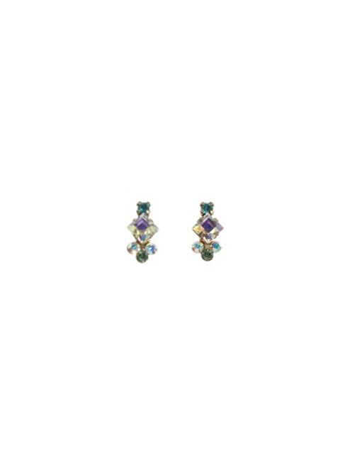 Sorrelli Smitten Tiny Cluster Crystal Earrings ~EAT23AGSMI