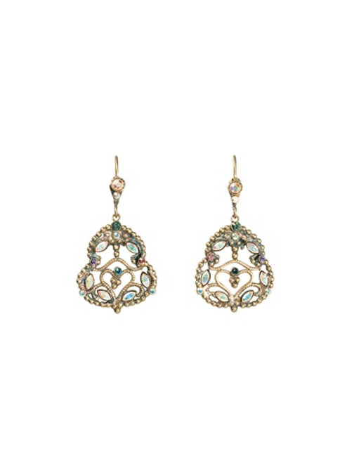 Sorrelli Smitten Crystal Filigree Earrings ~EBU21AGSMI