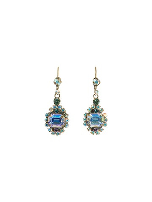 Sorrelli Smitten Crystal Flower Power Earrings ~ EBS86AGSMI