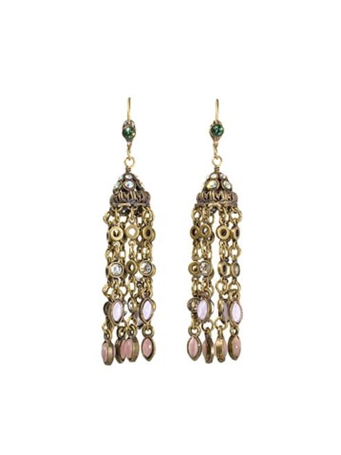 **Made To Order** Sorrelli Smitten Crystal Tassel Earrings ~EBU7AGSMI
