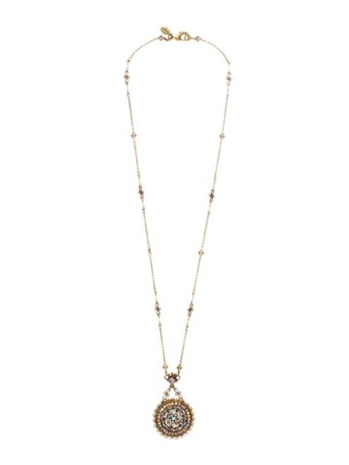 Sorrelli Smitten Crystal Vintage Inspired Pendant w/ Beaded Chain~NBT20AGSMI