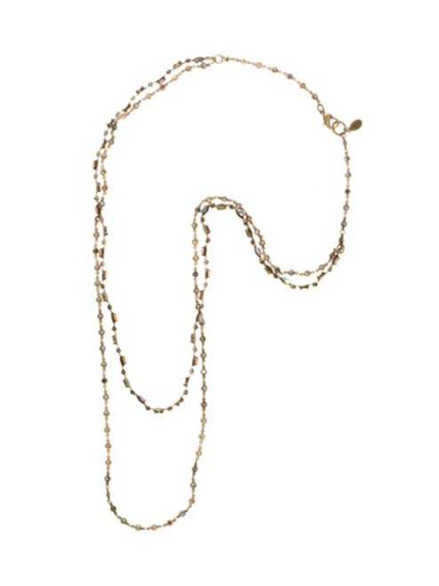 Sorrelli Smitten Crystal Long Strand Necklace~NBT5AGSMI