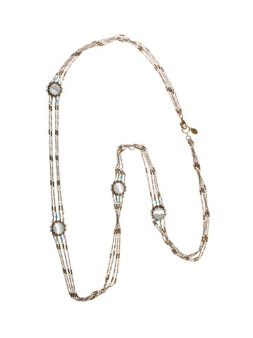 Sorrelli Smitten Crystal Fancy Station Long Strand Necklace~ NBU5AGSMI