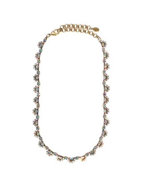 Sorrelli Smitten Scallop Design Crystal Necklace~NBS78AGSMI