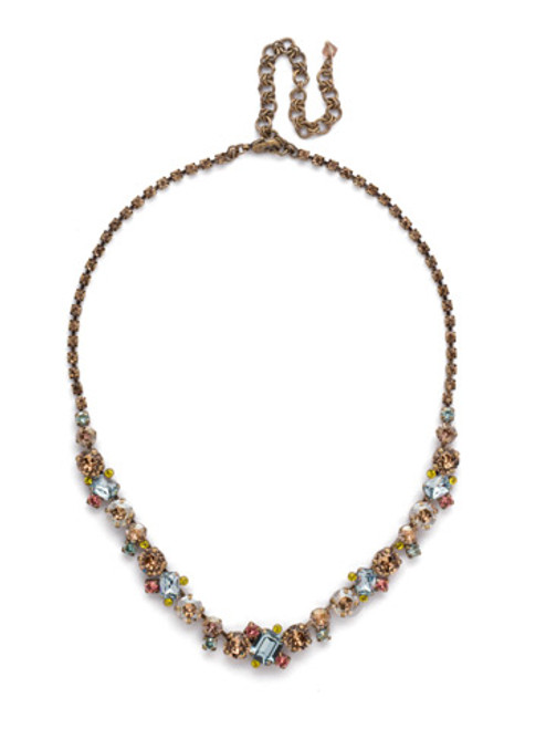 *SPECIAL ORDER**SORRELLI RUSTIC  BLOOM   SOPHISTICATED TENNIS  CRYSTAL  NECKLACE~NDK17AGRB