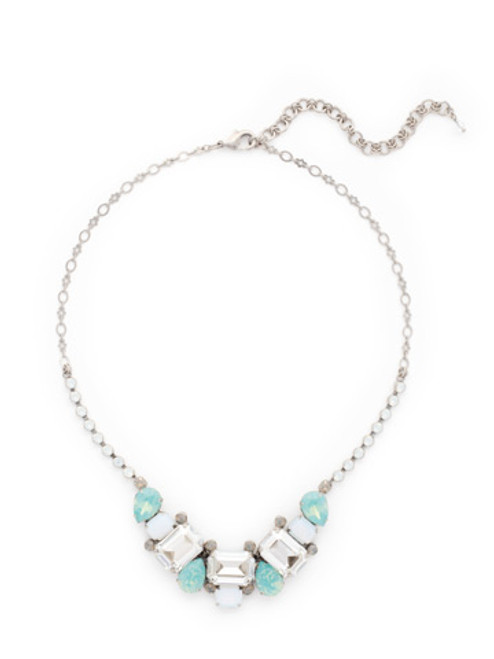 sorrelli aegean sea crystal necklace nct13asaes
