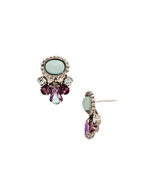 Sorrelli African Violet Semi-Precious Dangling Drop Crystal Post Earrings~ EDE19ASAFV