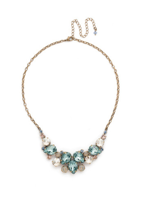 SORRELLI COASTAL MIST Crystal Necklace NDJ14AGCMI