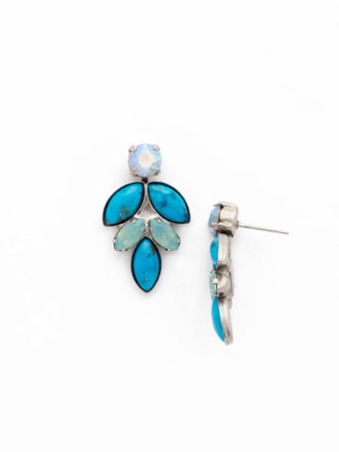 Sorrelli Teal Textile Crystal Earrings EDG9ASTT